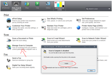 HP OFFICEJET 6600: How to scan from printer to computer system?