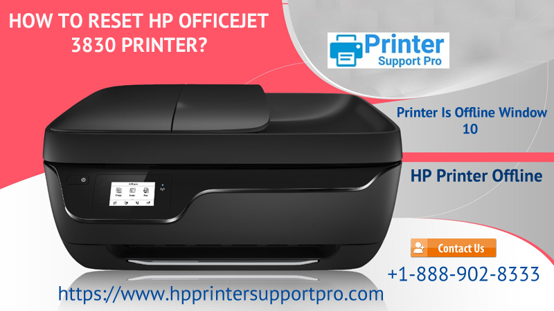 How to Reset HP Officejet 3830 Printer? HP Printer Support