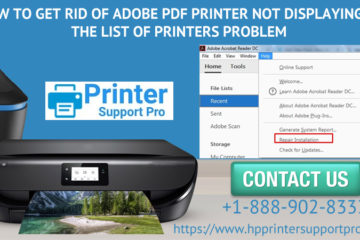 How to get rid of Adobe PDF Printer not displaying in the list of printers problem?