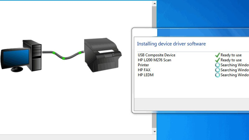 Install the HP printer drivers and software