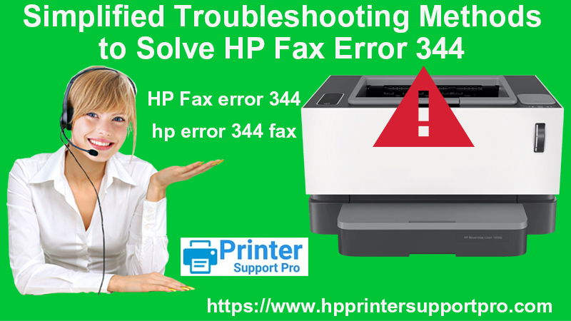 Simplified Troubleshooting Methods to Solve HP Fax Error 344