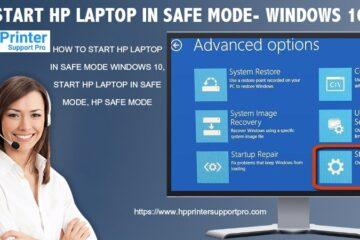 Start HP Laptop in safe mode- Windows 10