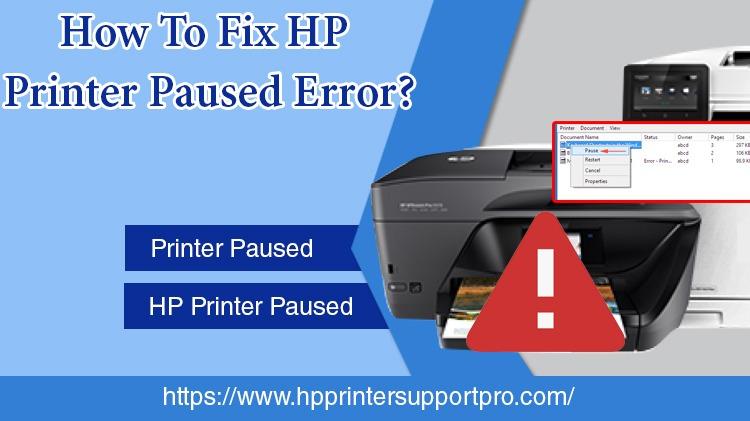 HP Printer Paused