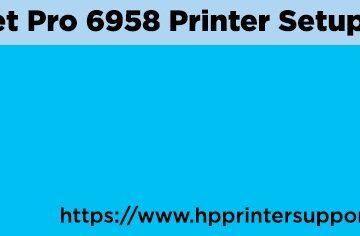 HP OfficeJet Pro 6958 Printer