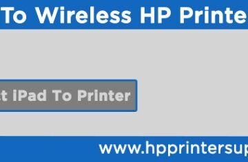 How To Connect iPad To wireless HP printer
