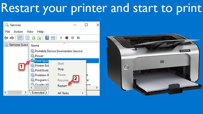 Restart your HP printer and start to print